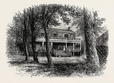 General Lee Drawing - The House Where General Lee Surrendered, American Civil War by American School