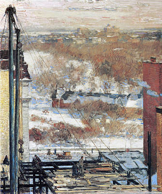 Childe Photograph - The Hovel And The Skyscraper by Childe Hassam