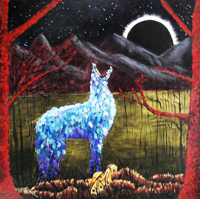 Animal Watercolors Juan Bosco - The Howling by Sandra Lewis