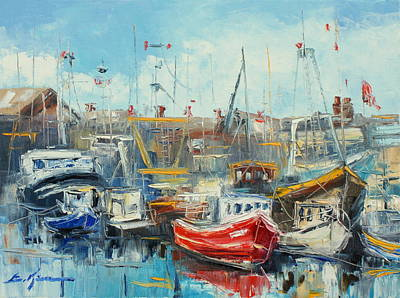 The Howth Harbour Art Print