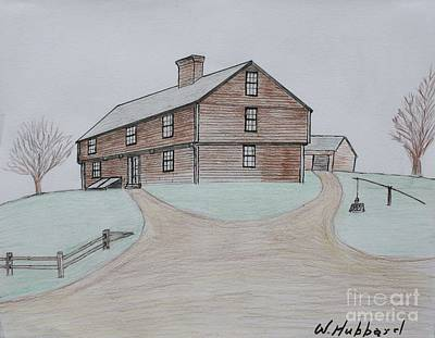 Maine Roads Drawing - The Hubbard Garrison by Bill Hubbard