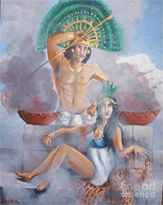 The Huey Tlatoni Or Emperor And Wife Art Print