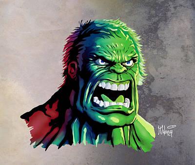 Bruce Banner Digital Art - The Hulk by Anthony Mwangi