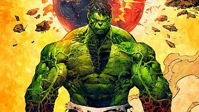 The Hulk Art Print by Florian Rodarte