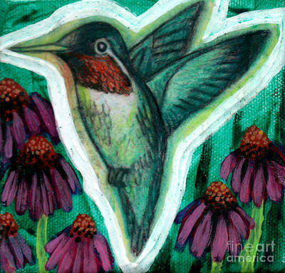 Painting - The Hummingbird 2 by Genevieve Esson