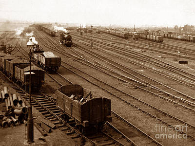 The Hump Railway Sidings Wath England Art Print