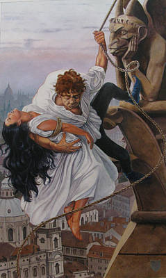 Hunchback Of Notre Dame Painting - The Hunchback Of Notre Dame by Patrick Whelan