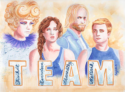 Hunger Games Painting - The Hunger Games Team by CJ Mars