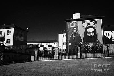 The Hunger Strike Raymond Mccartney Mural Part Of The Peoples Gallery Murals In Rossville Street Of The Bogside Area Of Derry Londonderry Art Print