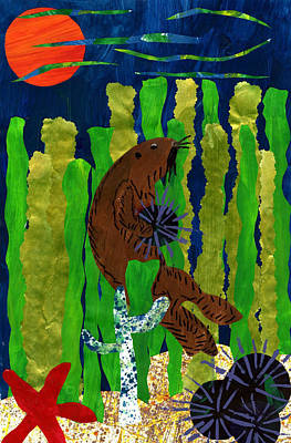 Otter Mixed Media - The Hungry Sea Otter By Lucas Salazar 3rd Grade by California Coastal Commission