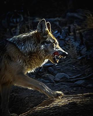 Canines Digital Art - The Hunt Digital Art by Ernie Echols