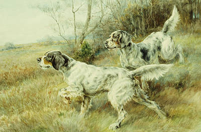 Animal Behavior Painting - The Hunt by Edmund Henry Osthaus