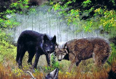 Painting - The Hunt by Jerry Bates
