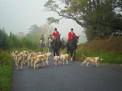 English Fox Hunting Photograph - The Hunt by Marily Valkijainen