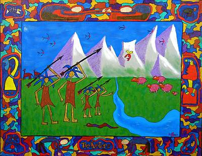 Painting - The Hunters by Mario MJ Perron