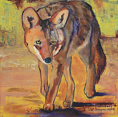 Painting - Coyote Hunting by Pat Saunders-White