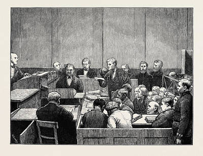 Hyde Park Drawing - The Hyde Park Prosecutions A Sketch In Marlborough Street by English School