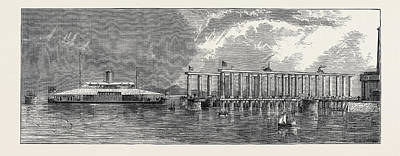 Dock Drawing - The Hydraulic Lift Graving Dock At Bombay by English School