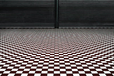 Checkers Photograph - The Hypnotic Floor by Gilbert Claes