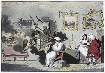 The Hypochondriac, Satirical Artwork Art Print by Spl