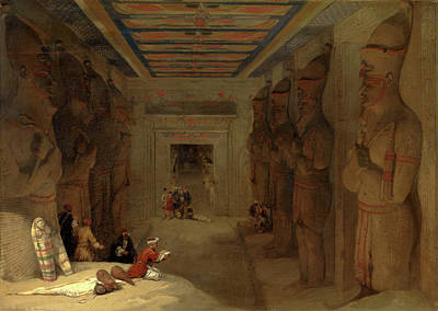 The Hypostyle Hall Of The Great Temple At Abu Simbel Art Print by Litz Collection