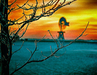 The Ice And The Windmill Art Print