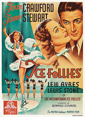 The Ice Follies Of 1939, Aka Ice Art Print by Everett