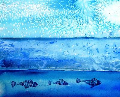 Ice Melting Painting - The Iceage Cometh No.2 by Trudi Doyle