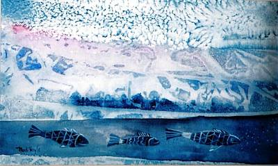 Ecological Painting - The Iceage Cometh  by Trudi Doyle
