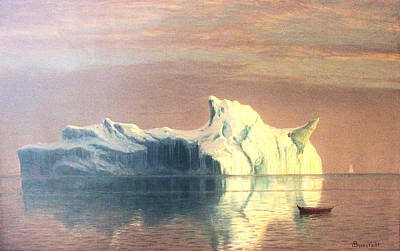 The Iceberg Art Print by Albert Bierstadt
