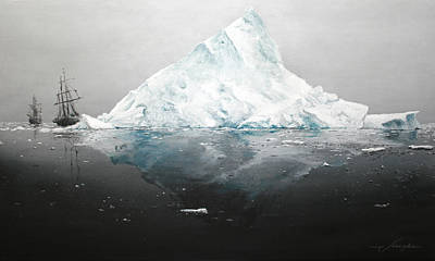 Ice Floe Painting - The Iceberg  by Johan Gorter