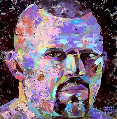 Art Print featuring the painting The Iceman Chuck Liddell by Robert Phelps