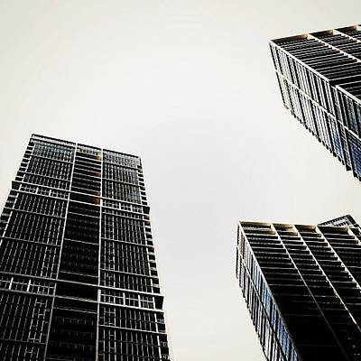 Skylines Photograph - The Icon Bldg. Complex - Miami by Joel Lopez