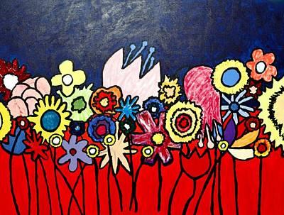 The Ideal Flower Garden Art Print