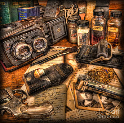 Police Art Photograph - The Identification Bureau - Police Officer by Lee Dos Santos
