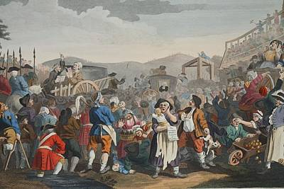 The Idle Prentice Executed At Tyburn Art Print by William Hogarth