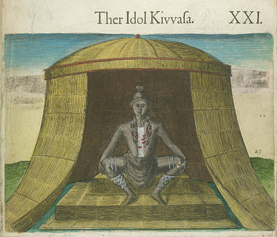 Theodor De Bry Photograph - The Idol Kivvasa by British Library