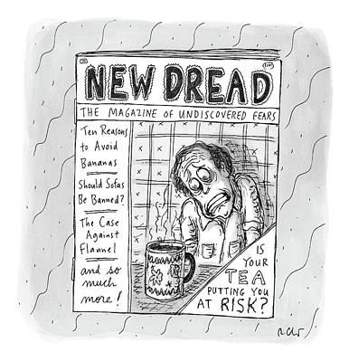 Hypochondria Drawing - The Image Is The Front Cover Of New Dread: by Roz Chast