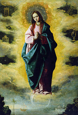 Rising Painting - The Immaculate Conception by Francisco de Zurbaran