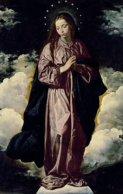Blessed Virgin Painting - The Immaculate Conception by Diego Rodriguez de Silva y Velazquez