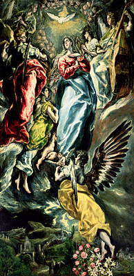 Cello Painting - The Immaculate Conception by El Greco Domenico Theotocopuli