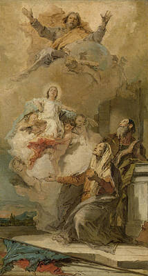 Immaculate Drawing - The Immaculate Conception Joachim And Anna Receiving by Litz Collection