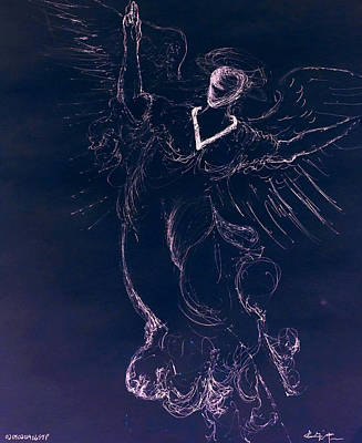 Drawing - The Immortal Angel II by Giorgio Tuscani