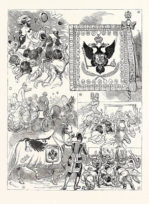 Moscow Drawing - The Imperial Coronation At Moscow by Russian School