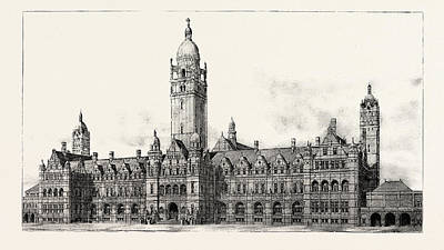 Imperial Drawing - The Imperial Institute, London, The Facade Of The Imperial by English School
