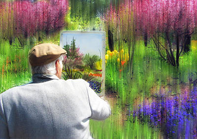 Painter Digital Art - The Impressionist Painter by Jessica Jenney