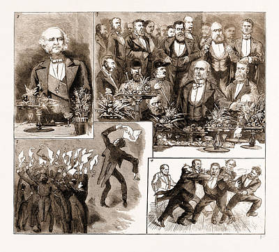 The Inaugural Banquet Of The National Liberal Club Art Print by Litz Collection