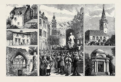 July 21 Drawing - The Inauguration Of The Burns Memorial At Dumfries 1 by English School