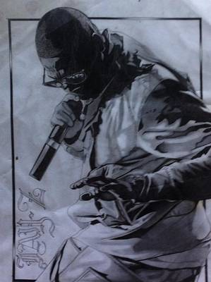 Jay Z Drawing - The Incomparable Shawn Carter by Sterling West