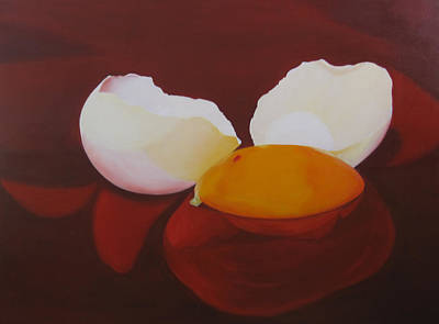 Painting - The Incredible Egg by Roseann Gilmore
